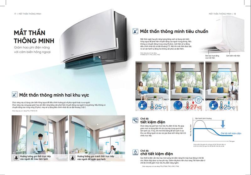 Máy lạnh Daikin FTKC60TAVMV Inverter công suất 2.5Hp model 2018